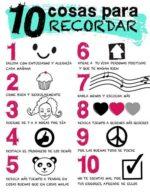 10 cosas (muy importantes) para recordar