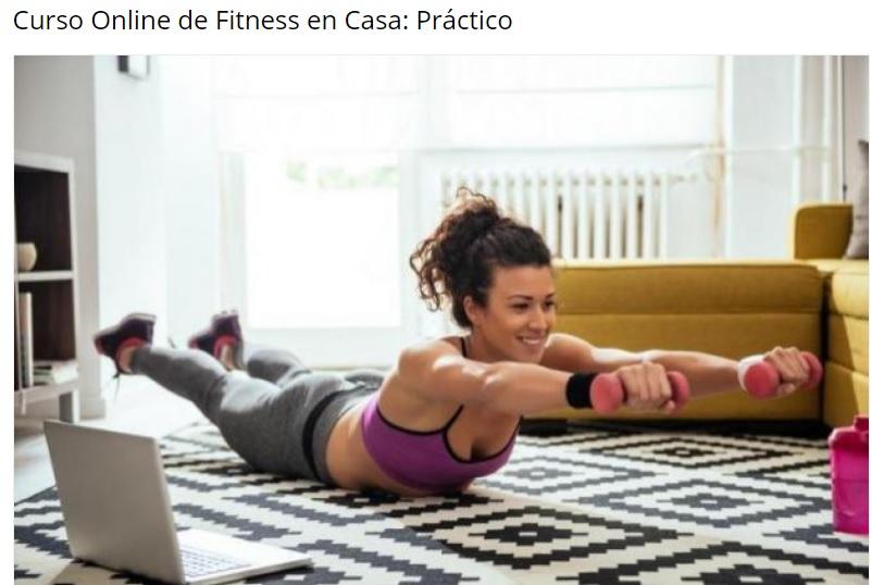 comprar curso online fitness en casa barato